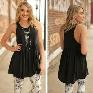 Infinity Raine Side Knot Loose Tank Top